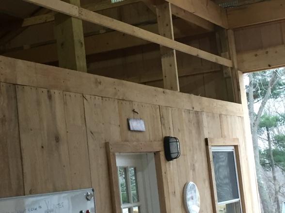 Interior – Barn Office Door – Hayloft Above